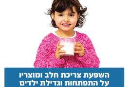 השפעת צריכת חלב ומוצריו על התפתחות וגדילת ילדים